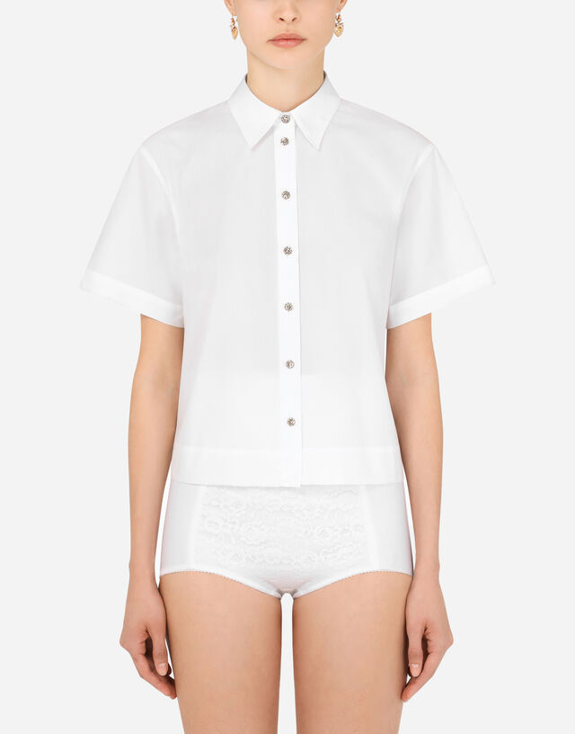 Cotton shirt in White