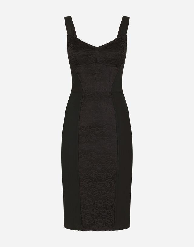 Corset bustier dress in Black