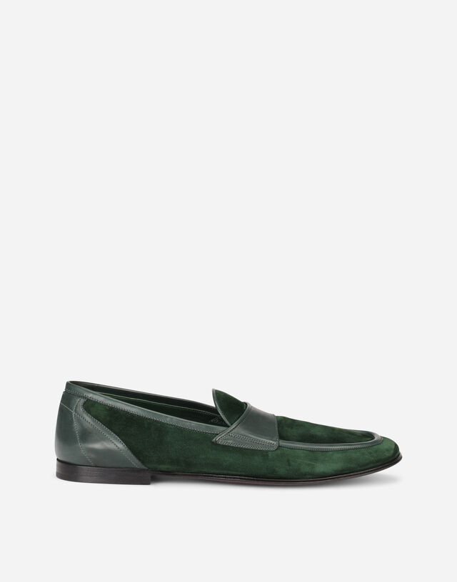 Suede slippers in Green