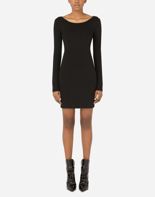 Short full Milano dress in Black
