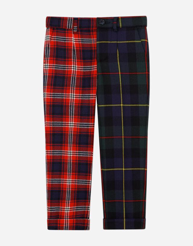 Classic mixed tartan pants in Multicolor