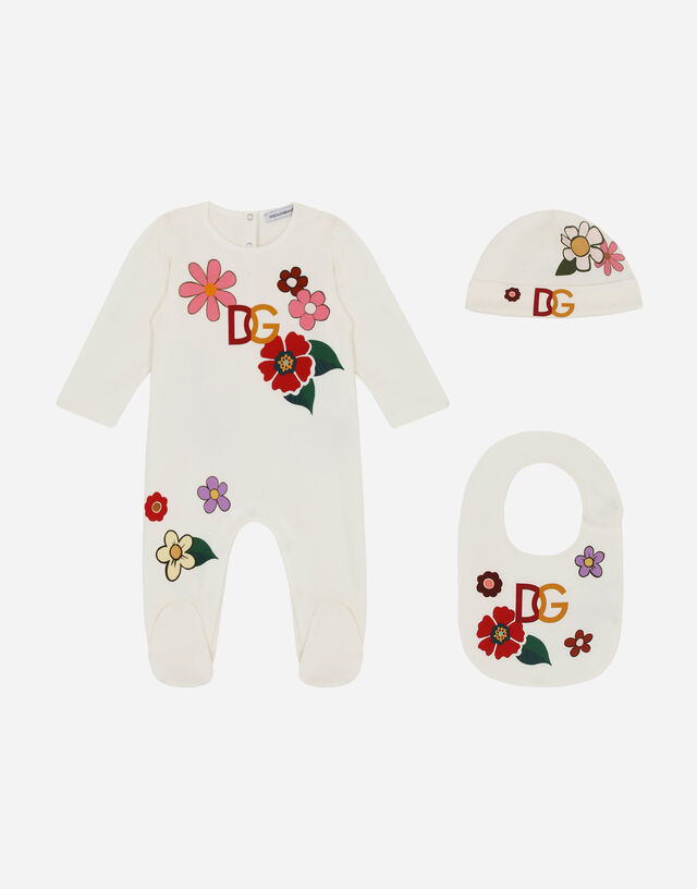 3-piece gift set in floral-print jersey in Multicolor