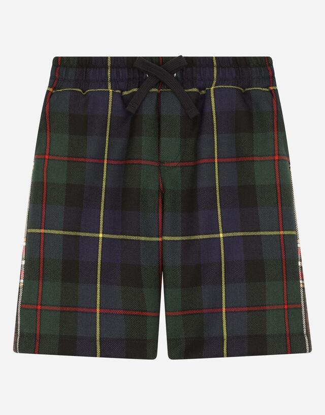 Mixed tartan shorts in Multicolor