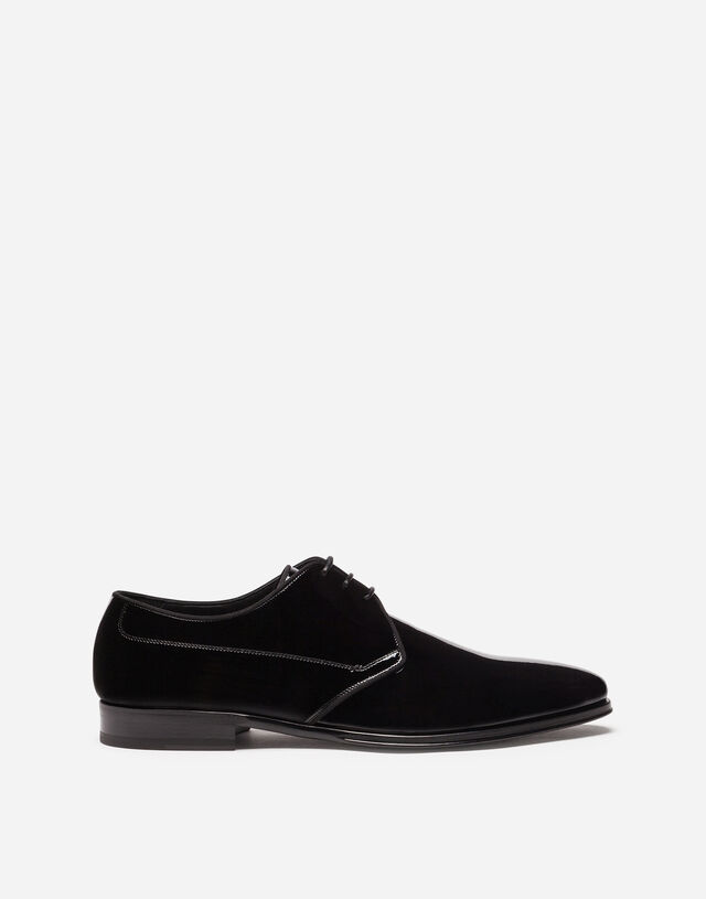Patent leather derby shoes in BLACK