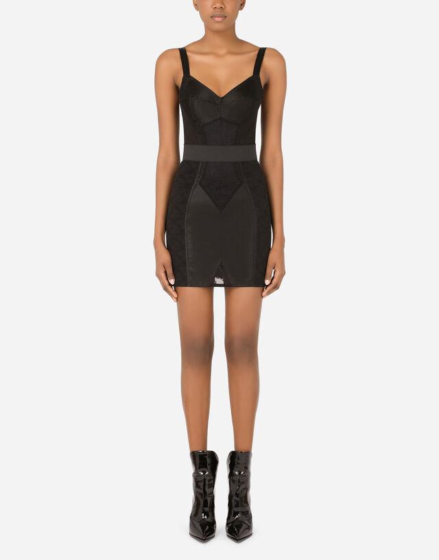 Corset dress in Black