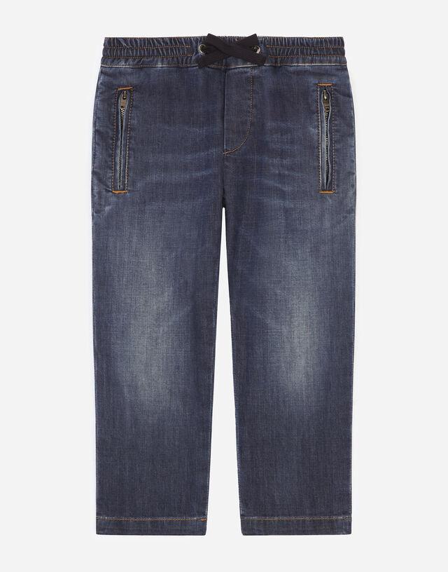 Dark blue stretch denim jeans in Blue