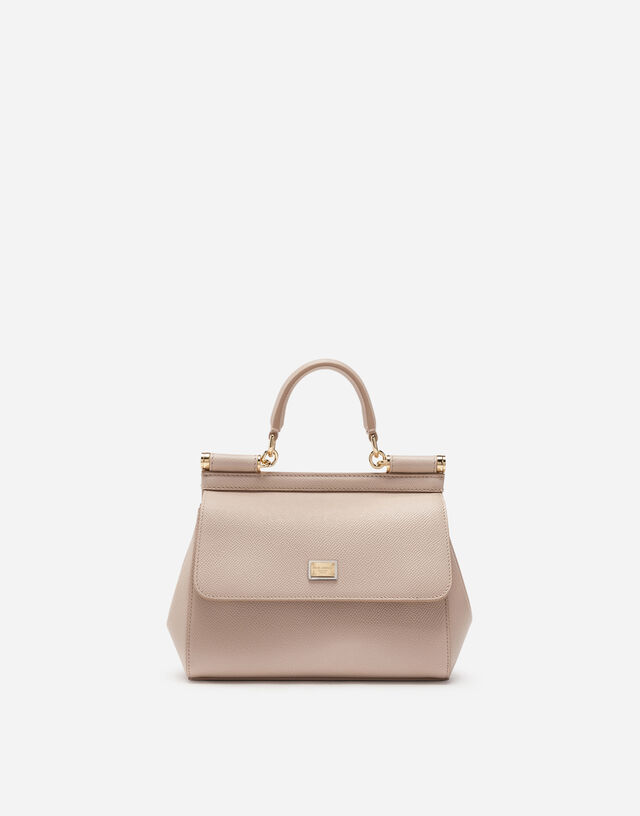 Small Sicily bag in dauphine calfskin in PINK