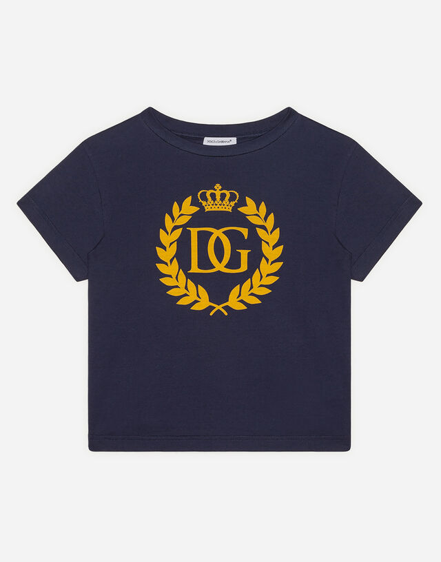 Jersey t-shirt with DG crown logo in Blue