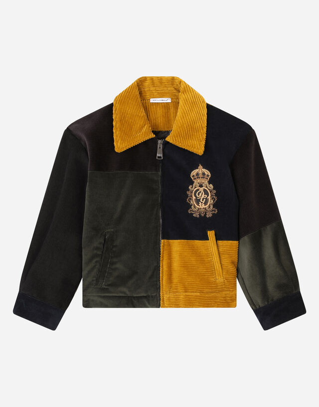 Corduroy jacket with DG crown patch in Multicolor