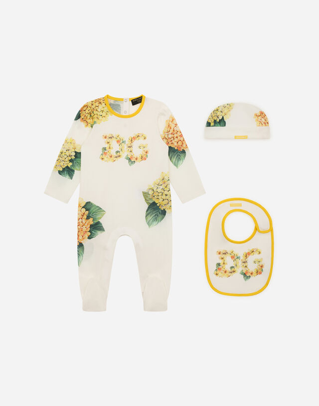 3-piece gift set with hydrangea print in Multicolor