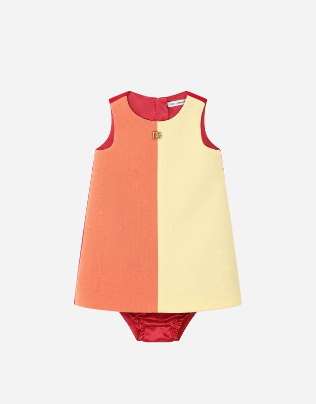 Short crepe dress in Multicolor