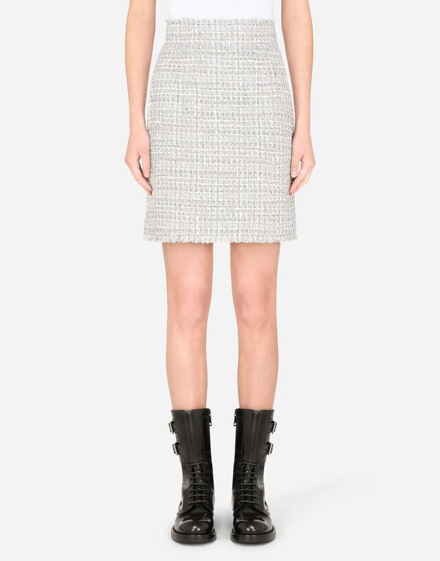 Short tweed skirt in MULTICOLOR