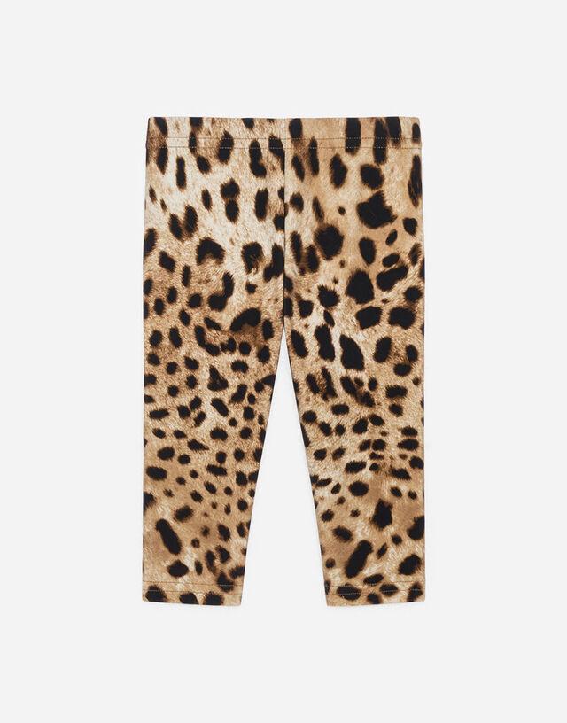 Interlock leggings with leopard print in Multicolor