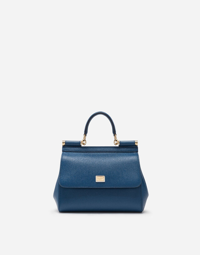 Small Sicily bag in dauphine calfskin in BLUE