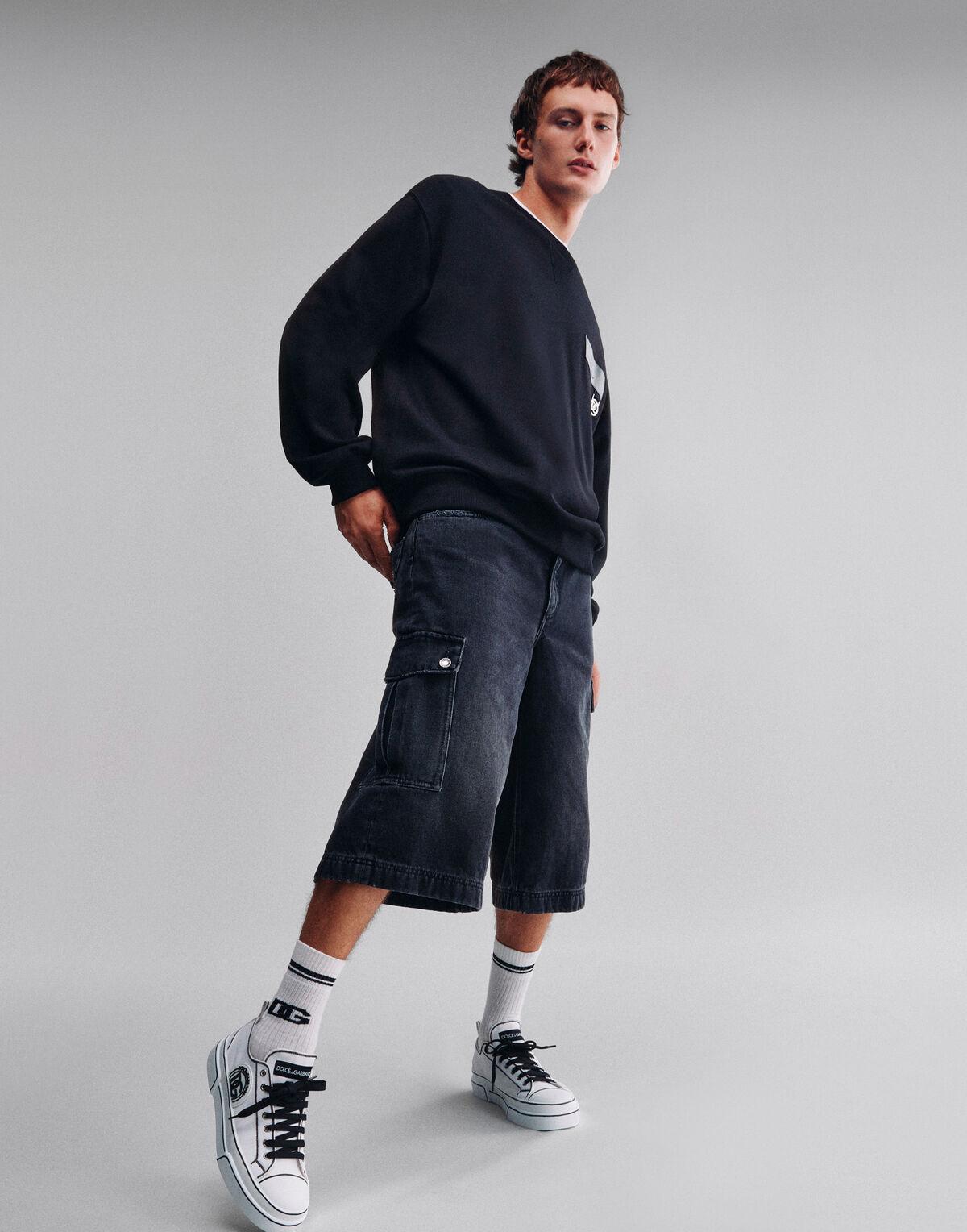 Jersey sweatshirt with DG patch