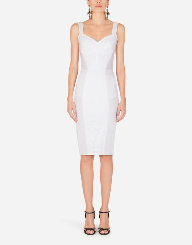 Corset bustier dress in WHITE