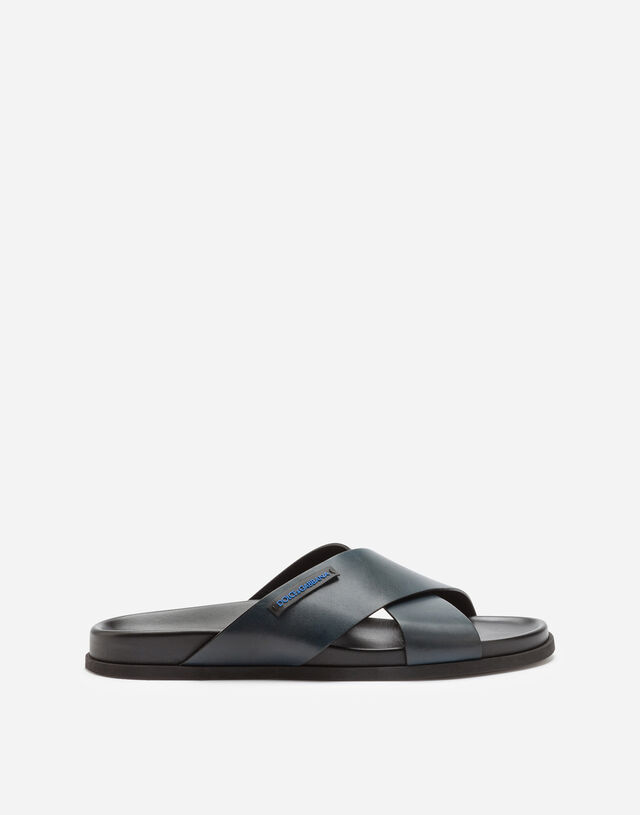 Calfskin sandals in Blue