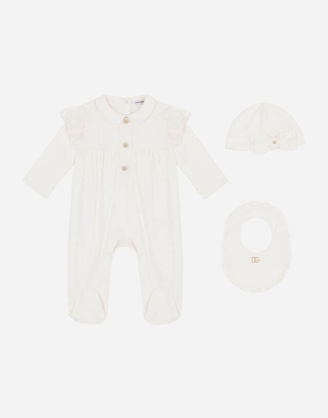 3-piece gift set in interlock jersey in White