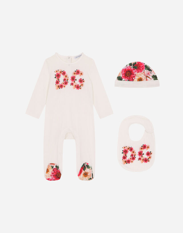 3-piece gift set in camellia-print jersey in Multicolor