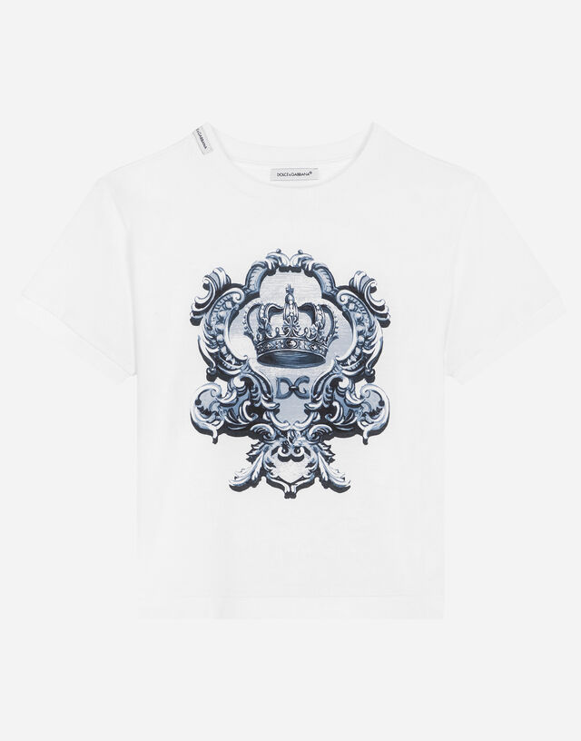 Jersey t-shirt with DG crown print in Multicolor