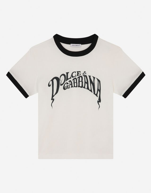 Jersey t-shirt with Dolce&Gabbana print in Multicolor