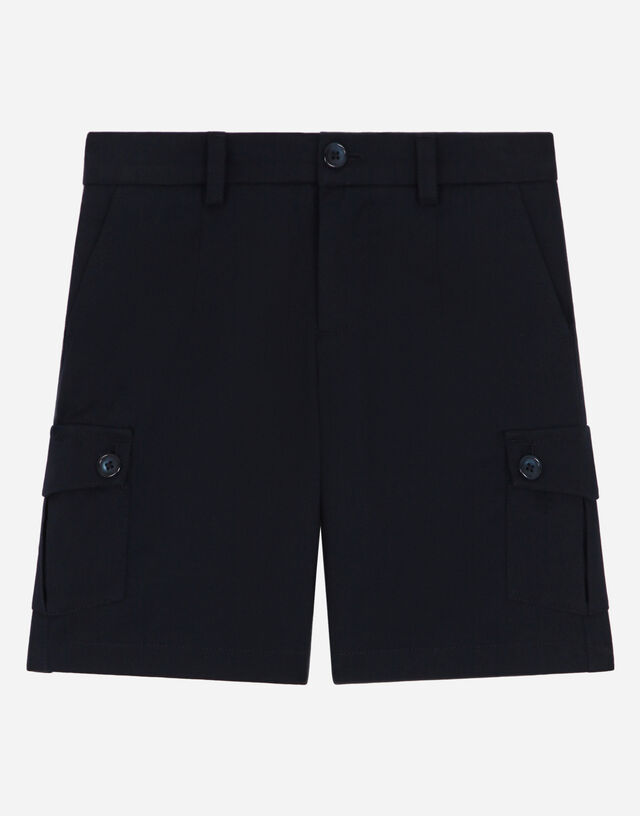 Stretch drill shorts in Blue