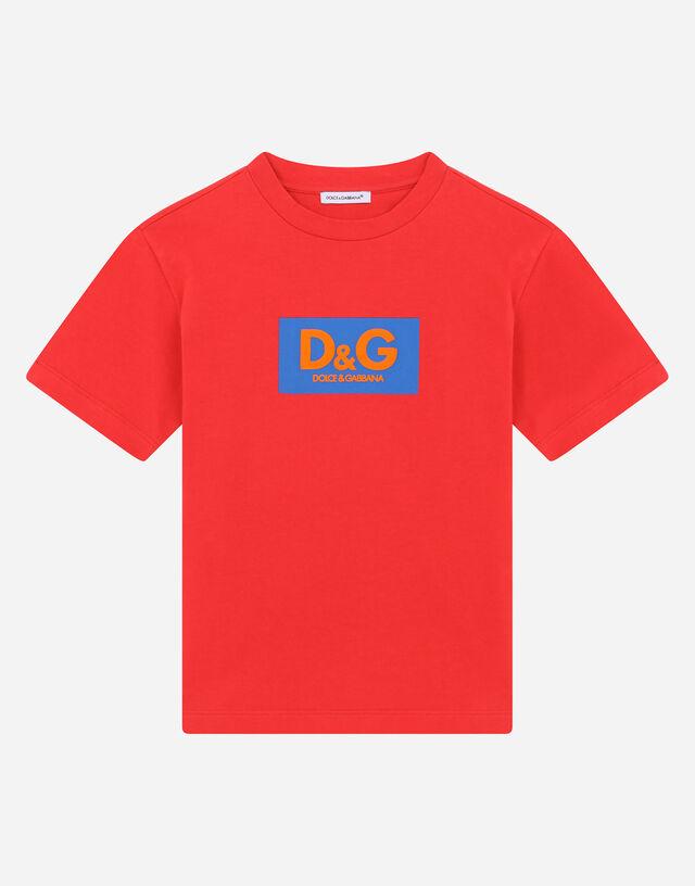 Interlock T-shirt with logo print in Multicolor