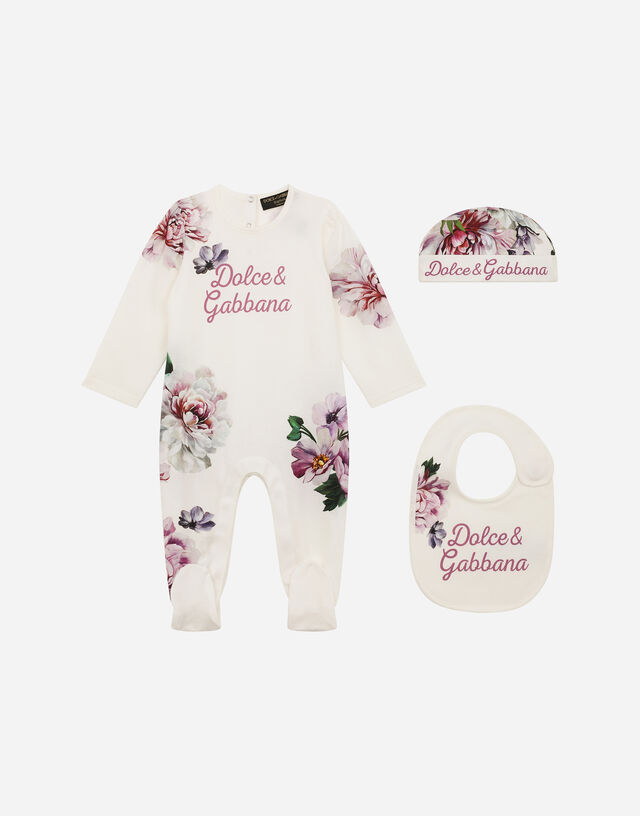 3-piece gift set with peony print in Multicolor