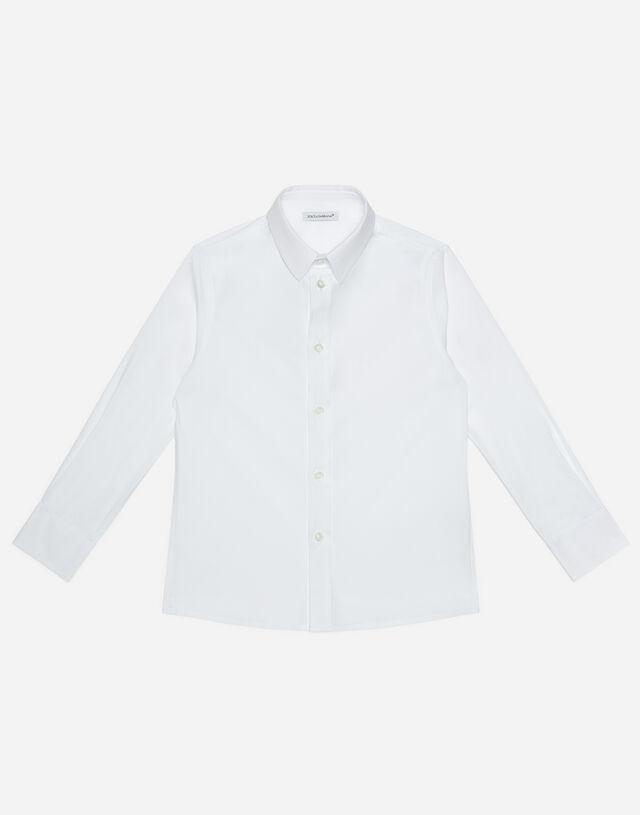 Strech cotton shirt in White