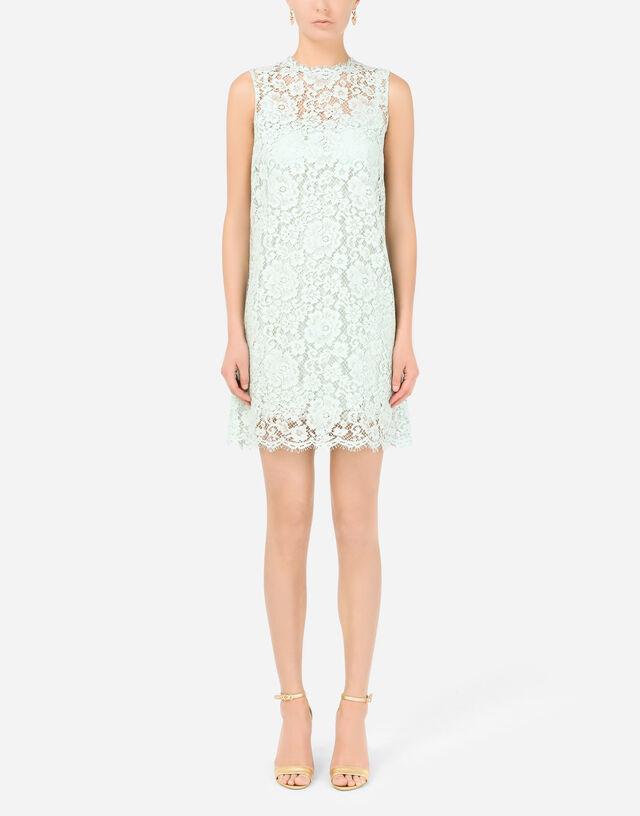 Short lace dress in Azure