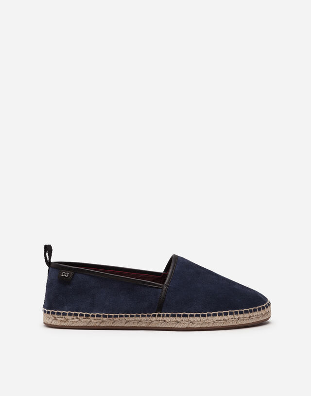 Suede espadrilles with rope sole in BLUE