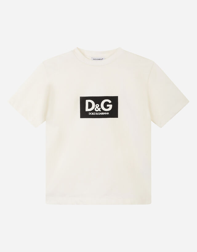 Interlock T-shirt with logo print in White