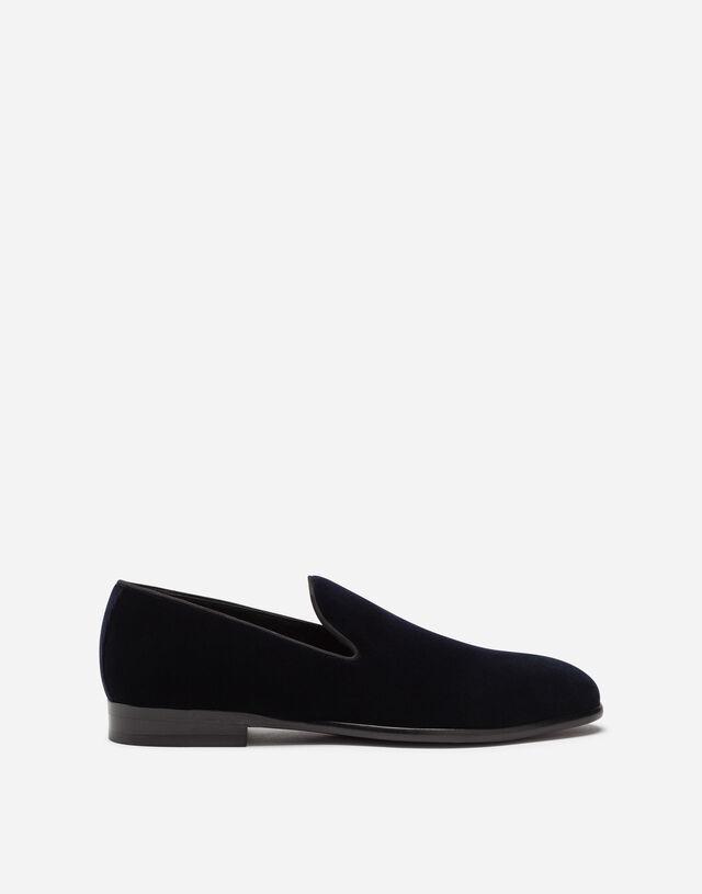 Slippers in velvet in BLUE