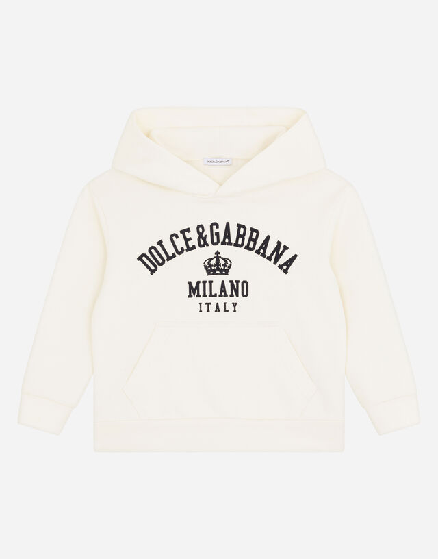 Hoodie with Dolce&Gabbana Milano print in White