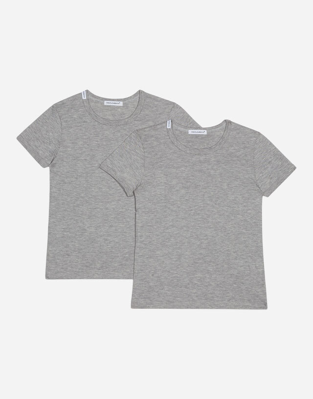 Short-sleeved jersey T-shirt two-pack in Grey