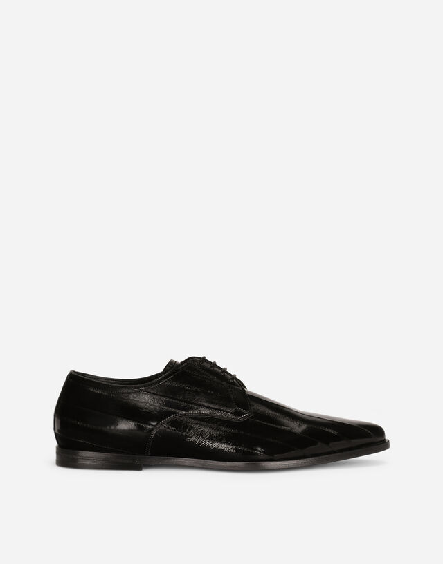 Python Derby shoes in Black