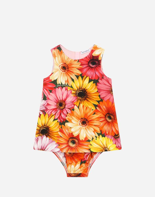 Interlock dress with gerbera-daisy print in Multicolor