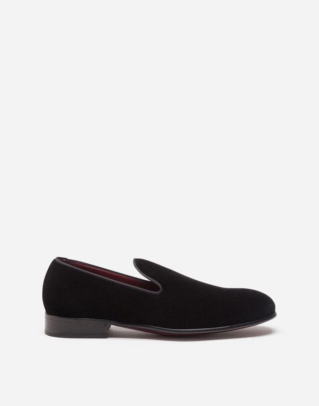 Velvet slippers in BLACK