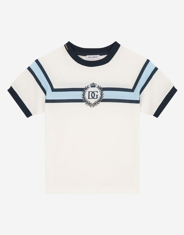 Jersey t-shirt with DG print in Multicolor