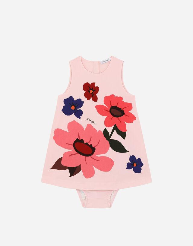 Floral-print interlock dress in Multicolor
