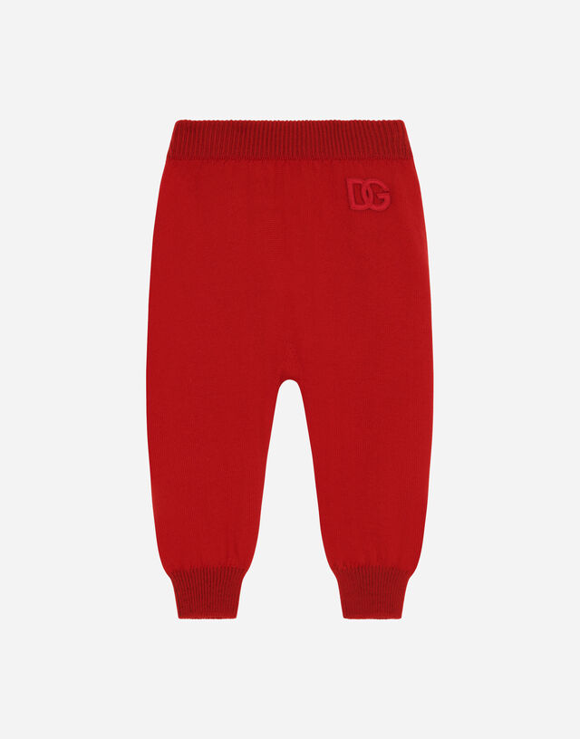 Knit leggings in Red