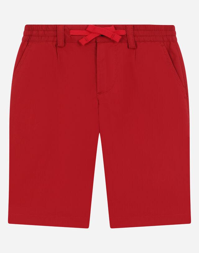 Poplin shorts in Bordeaux