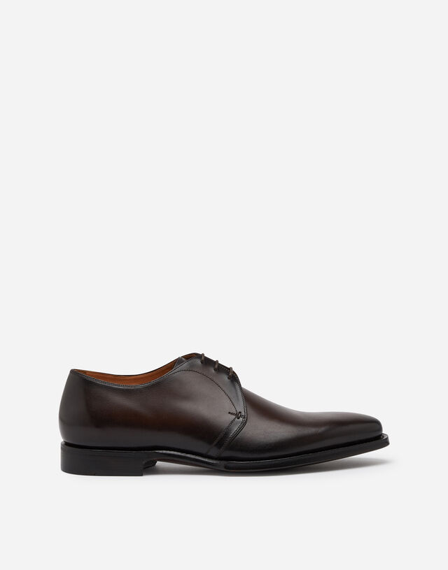 Derby in giotto paint calfskin in BROWN