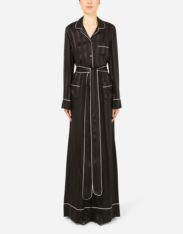 Twill jumpsuit in Black