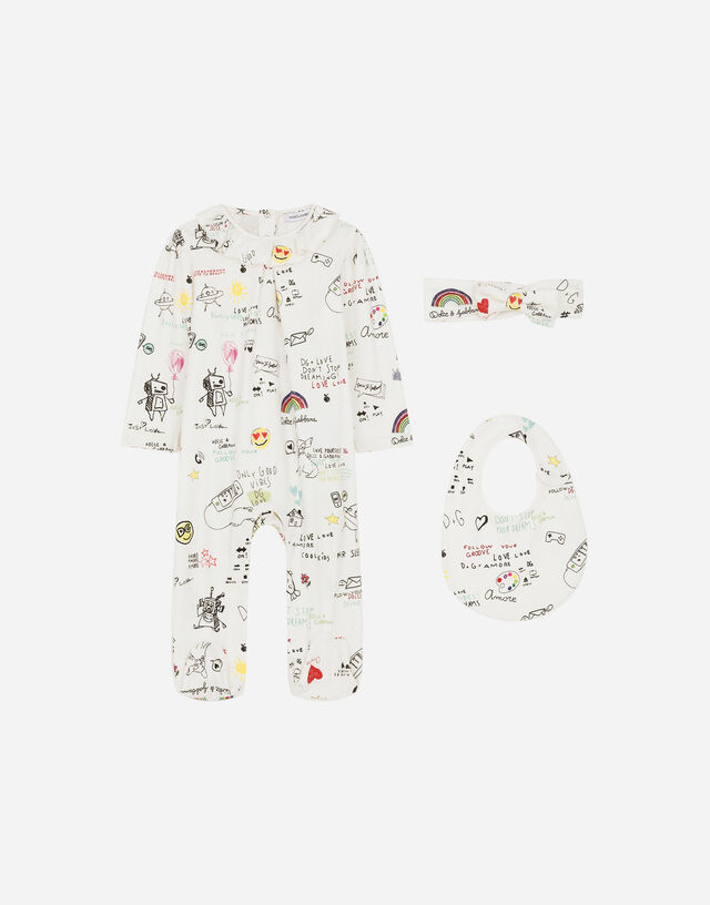 3-piece jersey gift set with DG sweet future print in Multicolor