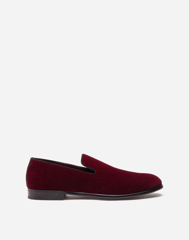 Velvet slippers in BURGUNDY