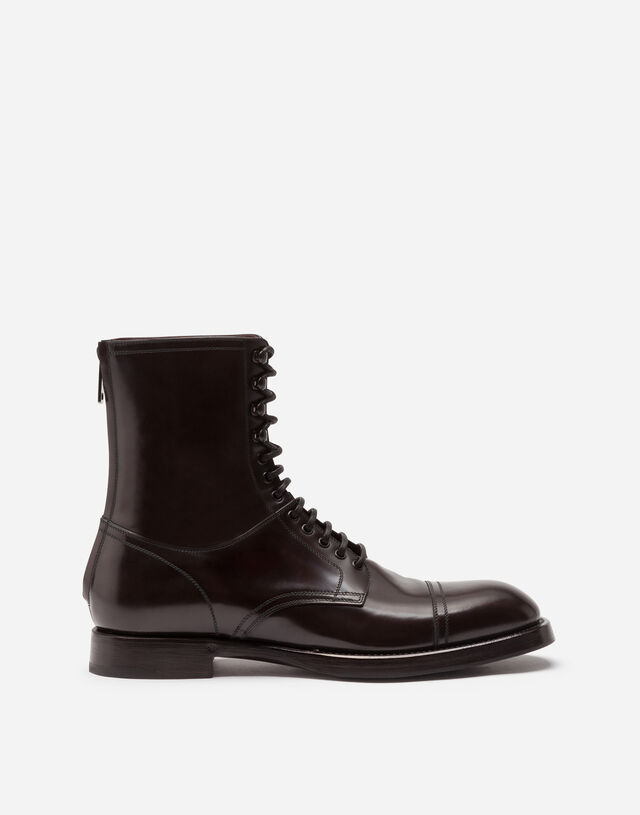 Brushed calfskin boots in BROWN