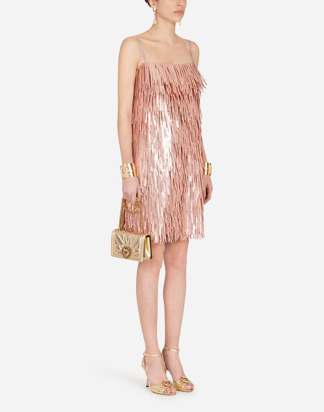 Short dress with sequin embellishment in MULTICOLOR