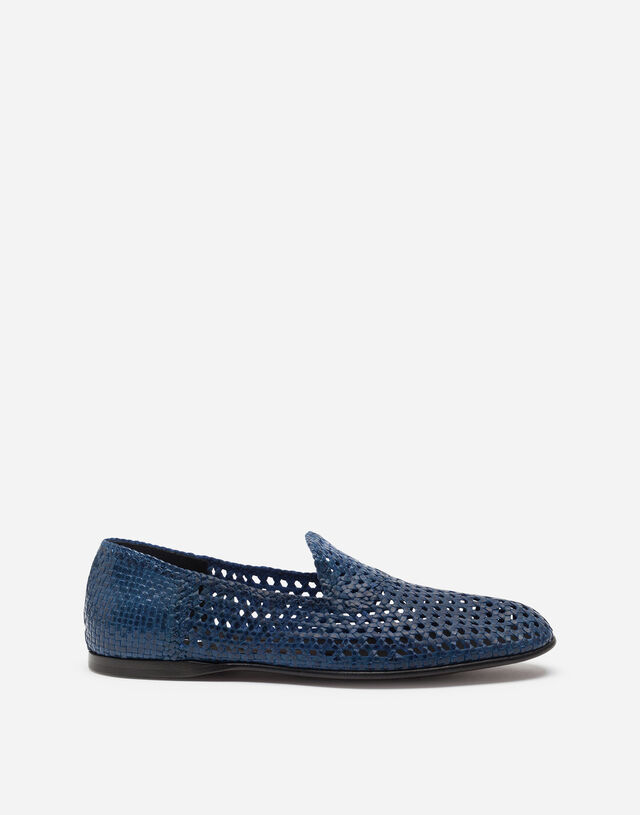 Hand-woven slippers in BLUE