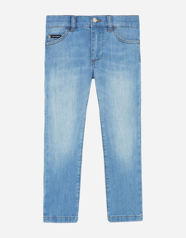 Stretch slim fit baby blue jeans in Azure